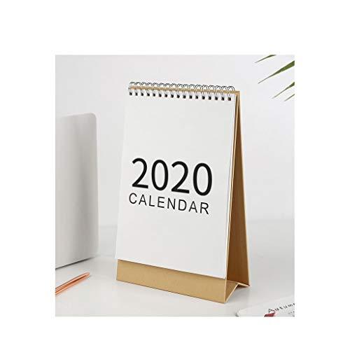 Bello e Delicato Calendario Decorazione Domestica for Desktop, 2.020 Semplice Desktop Calendario da Tavolo Cinese Calendario Taccuino Taccuino Ufficio o Decorazione della casa Durevole (Color : S)