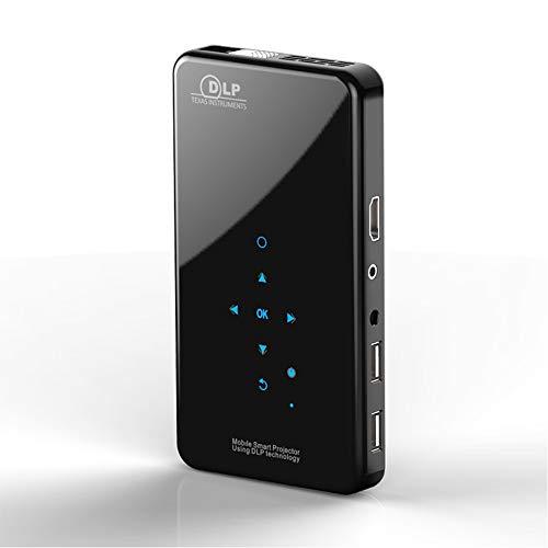 Mini Proiettore Portatile, DLP Proiettore Mini, Home Cinema Android 7.1.2 Wifi 5G Proiettore DLP Android, Supporto 1080P 4K HDMI 3D DLP-LINK, Compatibile con Fire TV Stick   PS3   PS4 - Nero