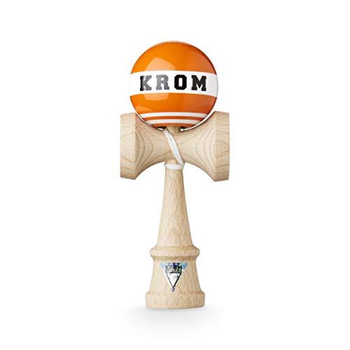 Original KROM Pro Kendama - Strogo Safetyvest - Geschicklichkeitsspiel für draußen und drinnen - Holzspielzeug mit Schnur und Ball - Kendama Skilltoy Kugelfangspiel