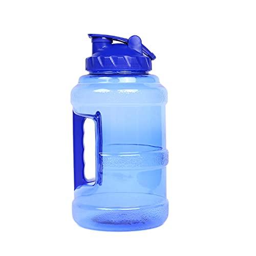 KUNSE Botella de Agua Sin Bpa de 2.5L Sport Gym Hervidores para Beber de Entrenamiento Al Aire Libre Cámping Viaje - Azul