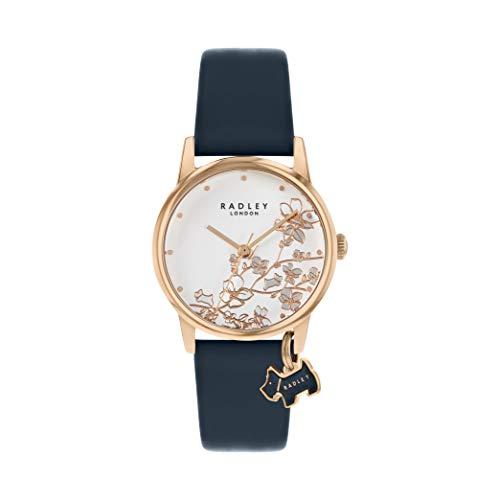 Radley RY2880 Armbanduhr, Blumendesign, Leder, Lederband, Blumenmuster