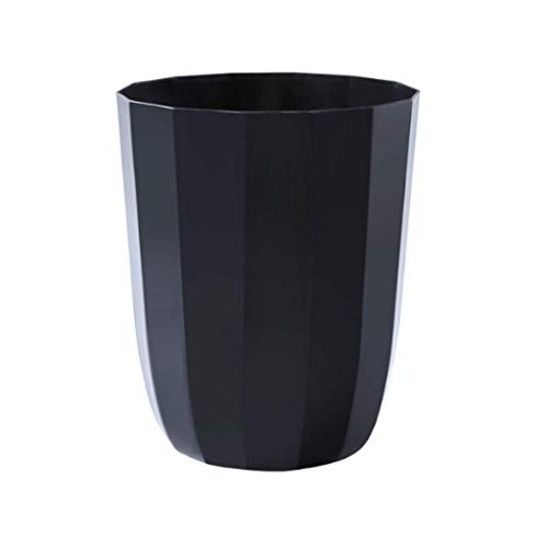 1yess Müll-Bin-Schlafzimmer Mülleimer-Darm-Zimmer-Abfall-Bin-Schlafzimmer Mülleimer-Kömer Büro-Müll-Eimer ohne Deckel Europäischen Stil Mülleimer Abfallbehälter (Farbe: Schwarz, Größe: 1pc)