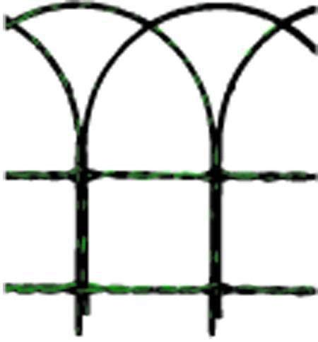 Cavallino 56504 Rete Ornamentale, Plastic, 25 mt, 40 cm, Verde
