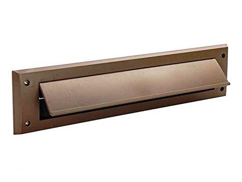 Bulk Hardware BH05982 Brievenbus Borstel Tocht Uitsluiter met Flap, 343 x 80mm (13.1/2 inch x 3.1/8 inch) - Wit