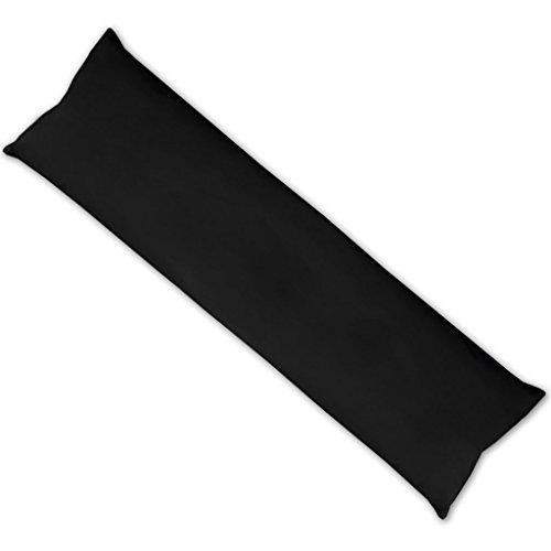 Bestlivings Zwangerschapskussen, zijslaapkussen, kussensloop, vulkussen, ontspannend soepel, verkrijgbaar in vele 40x140cm zwart - jet black