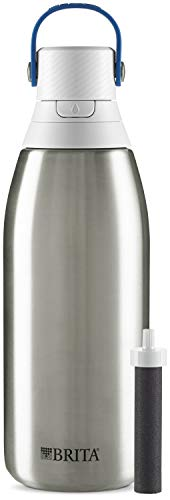 Brita Water Filter Bottles, 32 oz, Stainless Steel