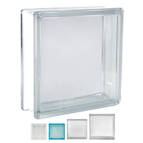 Fuchs Design 5 Stück Glassteine Vollsicht Klar glänzend 24x24x8 cm