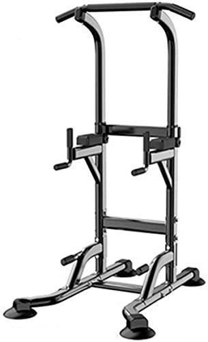 MUZIDP Power Tower Equipo de entrenamiento para el cuerpo de la torre de potencia, estación de inmersión, barra de dominadas para hacer ejercicio en casa, gimnasio, oficina, al aire libre