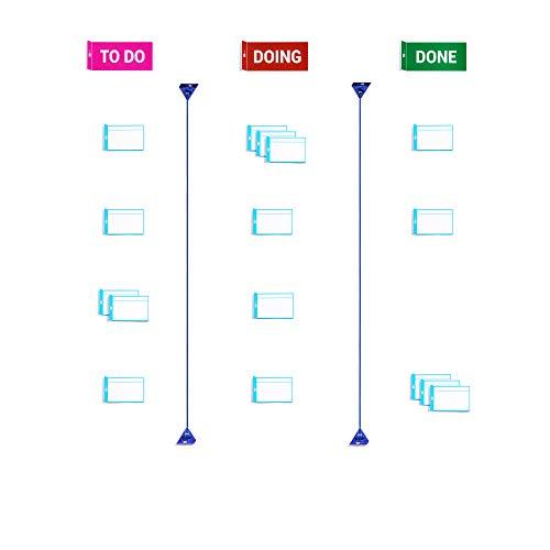 PATboard Scrum Board und Kanban Tafel Home Toolset Magnetisch - Magnetkarten für agiles Projektmanagement