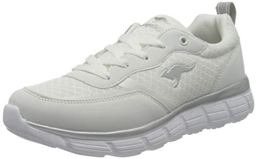 KangaROOS Damen KR Mild Sneaker, White/Vapor Grey 0001, 37 EU