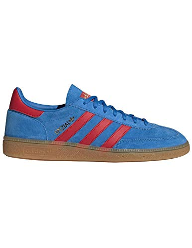 Adidas Handball Spezial Bright Blue, Red & Gold Metallic-44 2/3