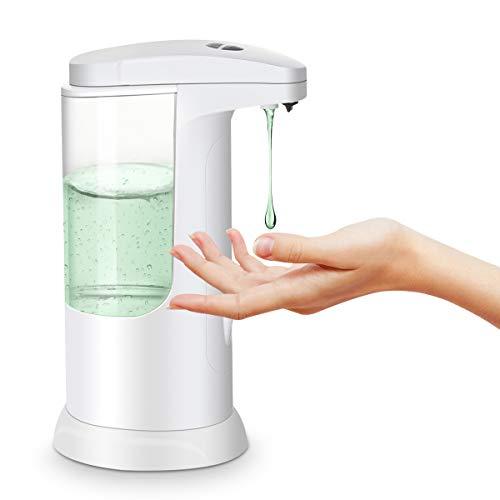 MECO ELEVERDE Dispensador Jabón Líquido Automático,Dispensador Gel Hidroalcohólico Dosificador 370ML, 3 Engranajes Dispensador Impermeable sin Contacto Desinfectante Manos para Cocina Baño