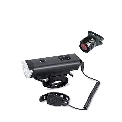 RESHEN Lámpara LED Linterna de Ciclo de la Bicicleta de la Bici 1200mAh Inducción luz Delantera USB Recargable Inteligente Faro BaoDingRenSheng (Size : Set 2)