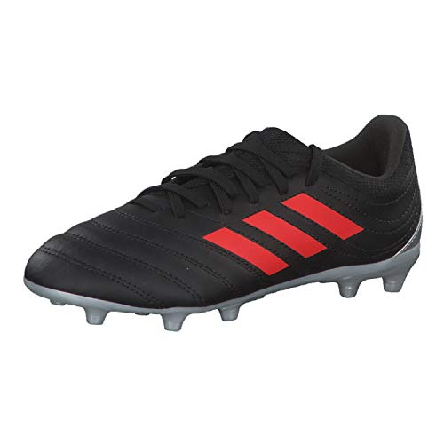 adidas Copa 19.3 FG Niño, Bota de fútbol, Core Black-Hi Red-Silver Metallic