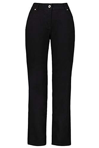 GINA LAURA Damen Jeans Tina, gerades Bein, helle Steppnähte schwarz 19 709707 10-19