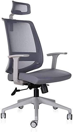 TGFVGHB - Sedia da ufficio per computer, sedia per computer e ufficio, colore: grigio