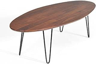 Gingko Home Furnishings Mid Century Modern Walnut Surfboard Coffee Table