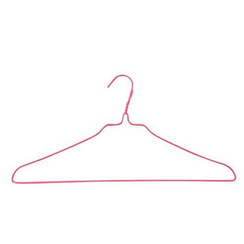 オリタニ 針金ハンガー 太 φ3×40cm幅 25本セット 全6色 (02 ピンク)