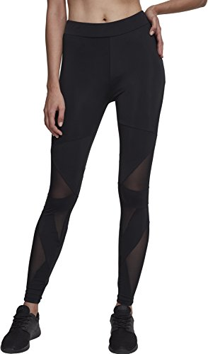 Urban Classics Damen Ladies Triangel Tech Mesh Leggings, Schwarz (Blk/Blk), M