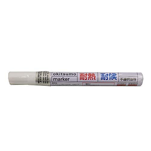 耐熱塗料 オキツモ 耐熱耐候 マーカー シルバー /600℃ 銀 塗料 バイク 車 マフラー