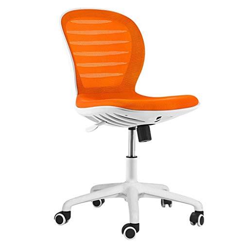 N/Z Équipement Quotidien Chaise de Bureau à Domicile Étude Chaise d'ordinateur Chaise de Personnel en Maille Chaise d'apprentissage Chaise pivotante sans accoudoirs Jaune 56,5 cm * 56,5 cm * 95 cm