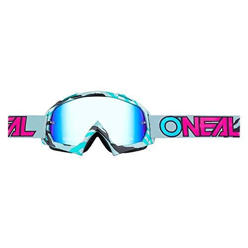 O'NEAL B10 Stream Goggle Goggle MX DH Brille grau/türkis/Radium Oneal