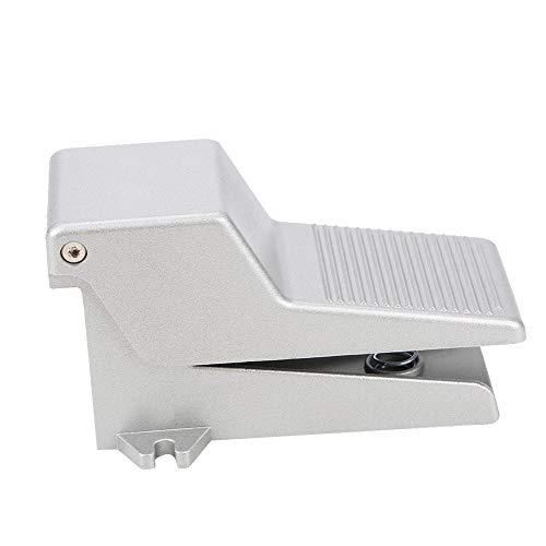 LANTRO JS - G1/4 4F210-08 Interruptor de pedal de control de pie, Interruptor de pedal de alimentación eléctrica, Control de presión de pie neumático de 5 vías Válvula de pedal de aleación de aluminio