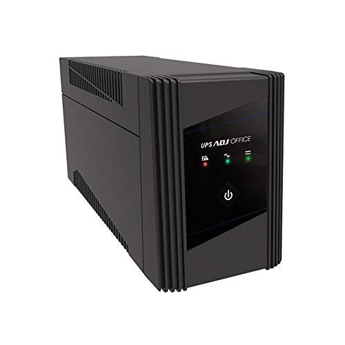 ADJ Gruppo di Continuità Serie Office 1400VA Line Interactive Ups 940 Watt Onda Sinusoidale Simulata AVR 2 Uscite Schuko USB 1 Batteria 12V 9Ah (LxWxH 292x100x140 mm)