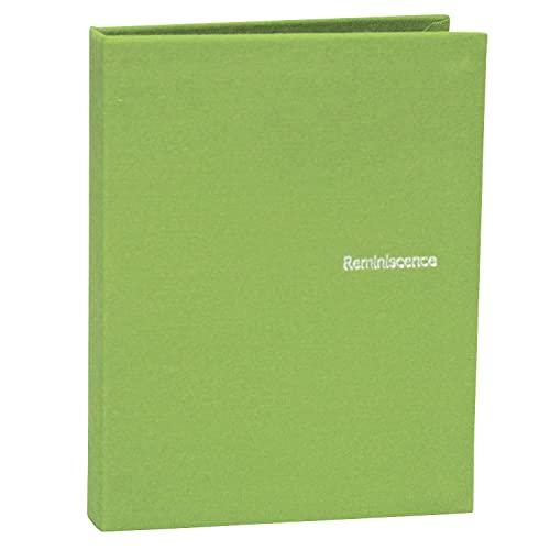 SEKISEI アルバム ポケット ハーパーハウス レミニッセンス ミニポケットアルバム カードサイズ 80枚収容 チェキ/カード 51~100枚 布 グリ-ン XP-80C