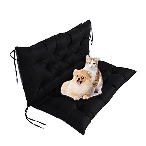 Garden Swing Cushion Wasserdichtes Outdoor-Sitzpolster, 2-Sitzer-Sitzkissen-RüCkenlehne Gartenbank-Sitzkissen-MöBelpolster füR TerrassenmöBel-Liegen Im Freien