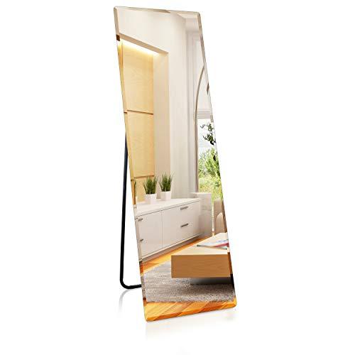 1000 MIRROWS® Espejo de pie con facetado, 140 x 45 cm, espejo de cuerpo entero, espejo de pared grande y moderno (140 x 45 cm)