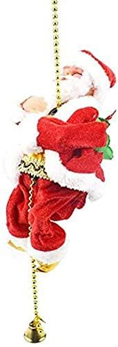 Babbo Natale Rampicante Elettrico Su Catena Di Perline Appesa Ornamento Natalizio, Regali di Capodanno Home Decor Arrampicata Babbo Natale Xmas Ornament