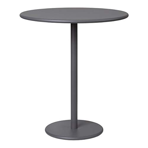 Blomus Garten Beistelltisch STAY plum kitten, Gartentisch, Tisch, Aluminium matt pulverbeschichtet, Warm Grey, 62016