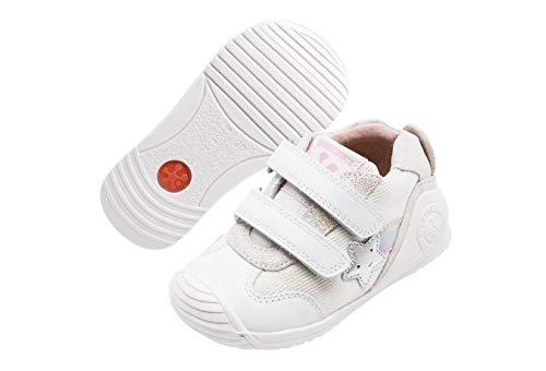 Biomecanics 202126, Zapatillas de Estar por casa Niñas, Blanco Blanco Sauvage B, 21 EU