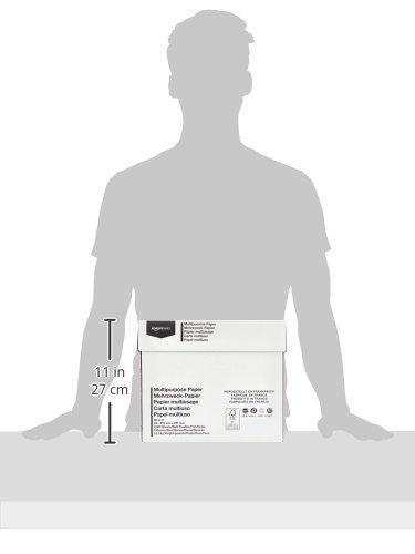 AmazonBasics Papel multiusos para impresora A4 80gsm, 5×500 hojas, blanco