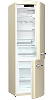 Gorenje ORK193C Freestanding 322-Litre Fridge Freezer, Energy Efficiency A+++, Cream (322 Litres, SN-T, 4.5 kg/24h, Energy Efficiency A+++, New Compartment Zone, Cream Colour).