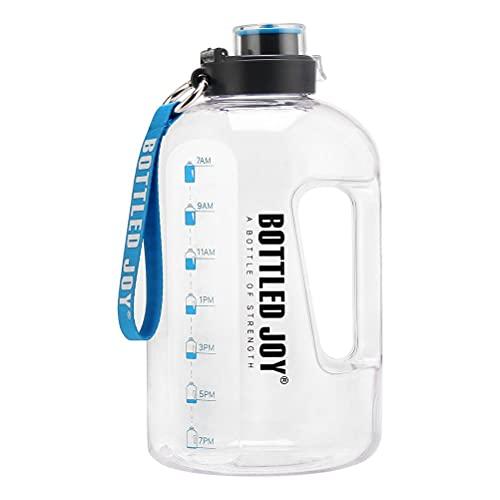 BTOSEP Botella de Agua de un galón, Botella de Agua con Marcador de Tiempo Jarra de Agua de Gran Capacidad para Gimnasio y Actividades al Aire Libre, asegúrese de Beber Suficiente Agua Todos los días