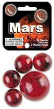 Mega Marbles - MARS MARBLES NET (1 Shooter Marble & 24 Player Marbles)