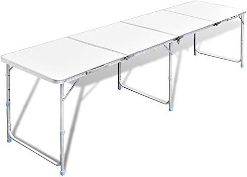 Profeco - Mesa plegable (240 x 60 cm, altura de trabajo ajustable)
