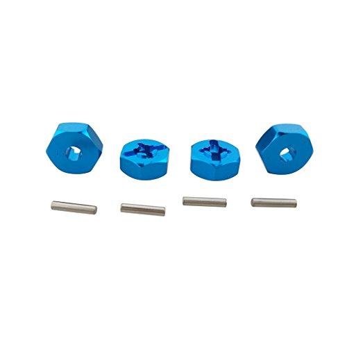 Fytoo 4pcs 12mm Rueda de Aluminio Cubo de Montaje Hexagonal para WLtoys A949 A959 A969 A979 K929 A959-b A969-b A979-b K929-b 1/18 Piezas de automviles RC