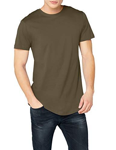 Urban Classics Herren Shaped Long Tee T-Shirt, Grün (olive), L