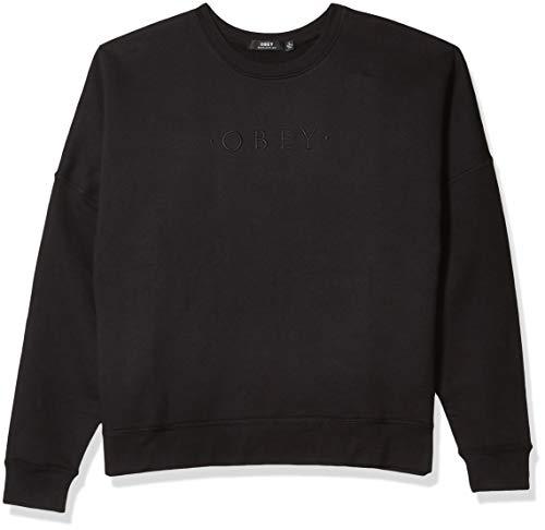 Obey Damen Annie Crewneck Fleece Sweatshirt, schwarz, Large
