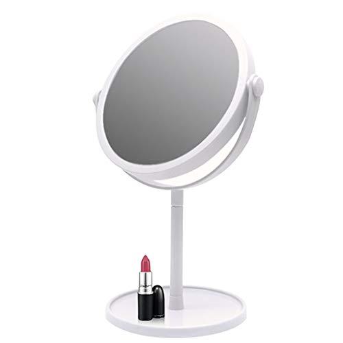 NJYT Miroir Mural Miroir de Maquillage Grossissant avec Ventouse, with Cosmetic Vanity Mirror Rotation Autoportante pour Se Raser (Couleur : Blanc)