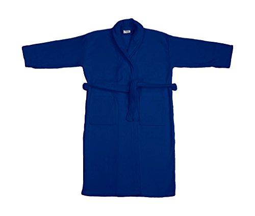 adidas Damen Como Velours Bademantel Trilby, Blau (Navy 200), Large (Herstellergröße: L)