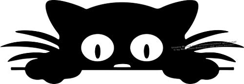 WB wohn trends Auto-Aufkleber, Katze guckt Cat, rosa, 22cm breit, KFZ-Sticker