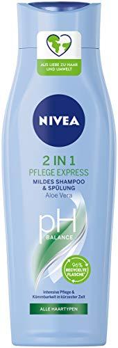 NIVEA 2in1 Pflege Express Mildes Shampoo & Spülung (250 ml), intensives Pflegeshampoo mit Aloe Vera, Haarshampoo für Pflege in kürzester Zeit