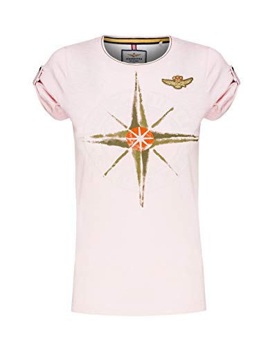Aeronautica Militare Damen Tshirt TS1593D Hellrosa, Sweatshirt, Hose (S)