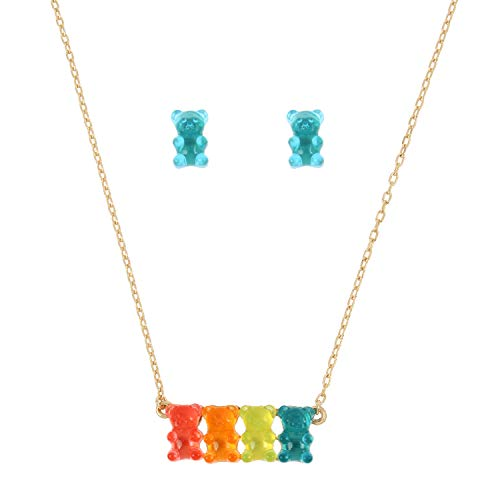 Betsey Johnson Gummy Bear Necklace and Earrings