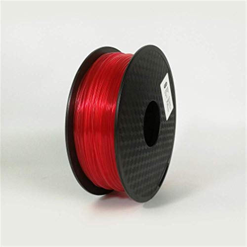 3D Printing Filament TPU Flexible Filament TPU filament Plastic for3D Printer 1.75mm Printing Materials Gray Black Red Color toughness (Color : Blue) JIAJIAFUDR (Color : Transparent Red)