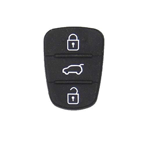 FBFGFor Hyundai Picanto Solaris Rio Sportage Elantra para Kia Verna 3 Botones Flip Plegable Remoto Llave de Coche Funda de Goma Almohadillas
